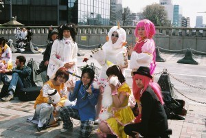 Cos Play girls in Harajuku