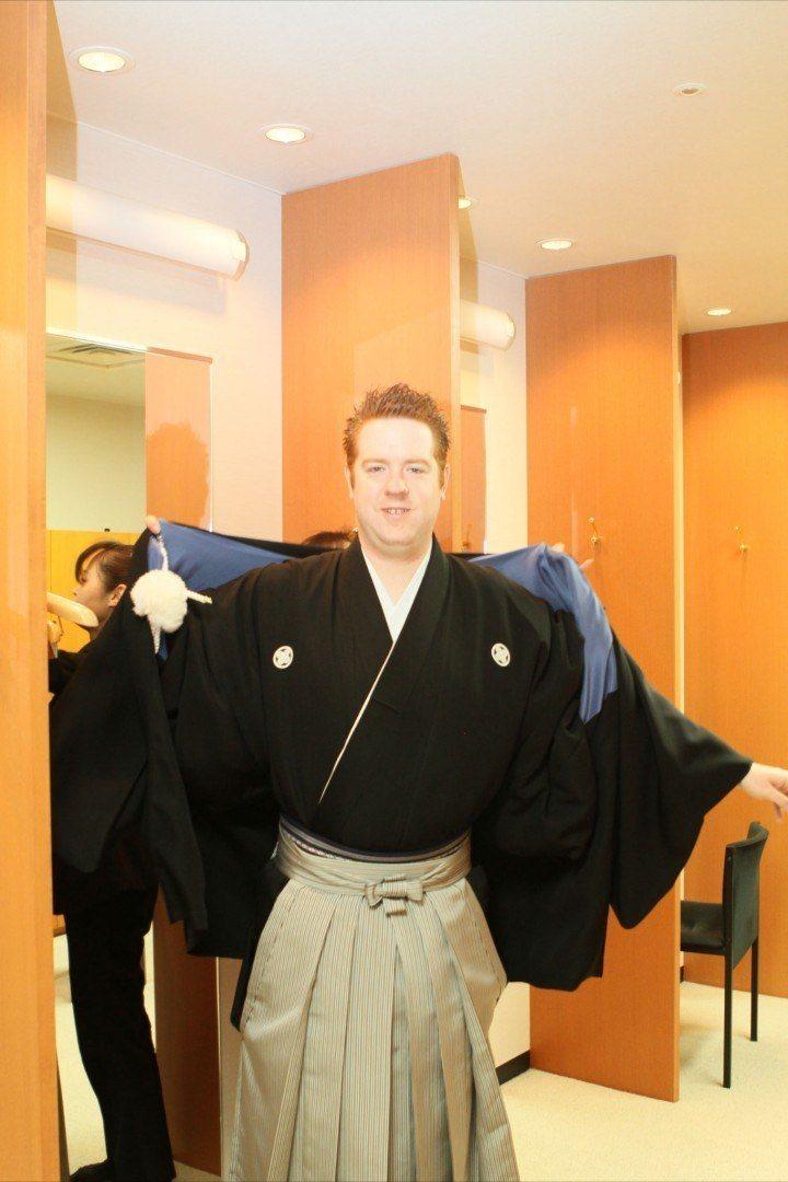 Male wedding kimono - wedding in Japan