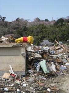 A tsunami wrecked house 2011