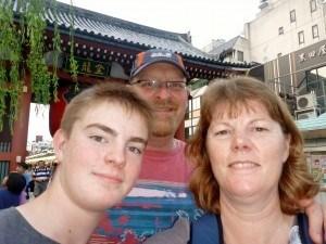 Family shot from Asakusa