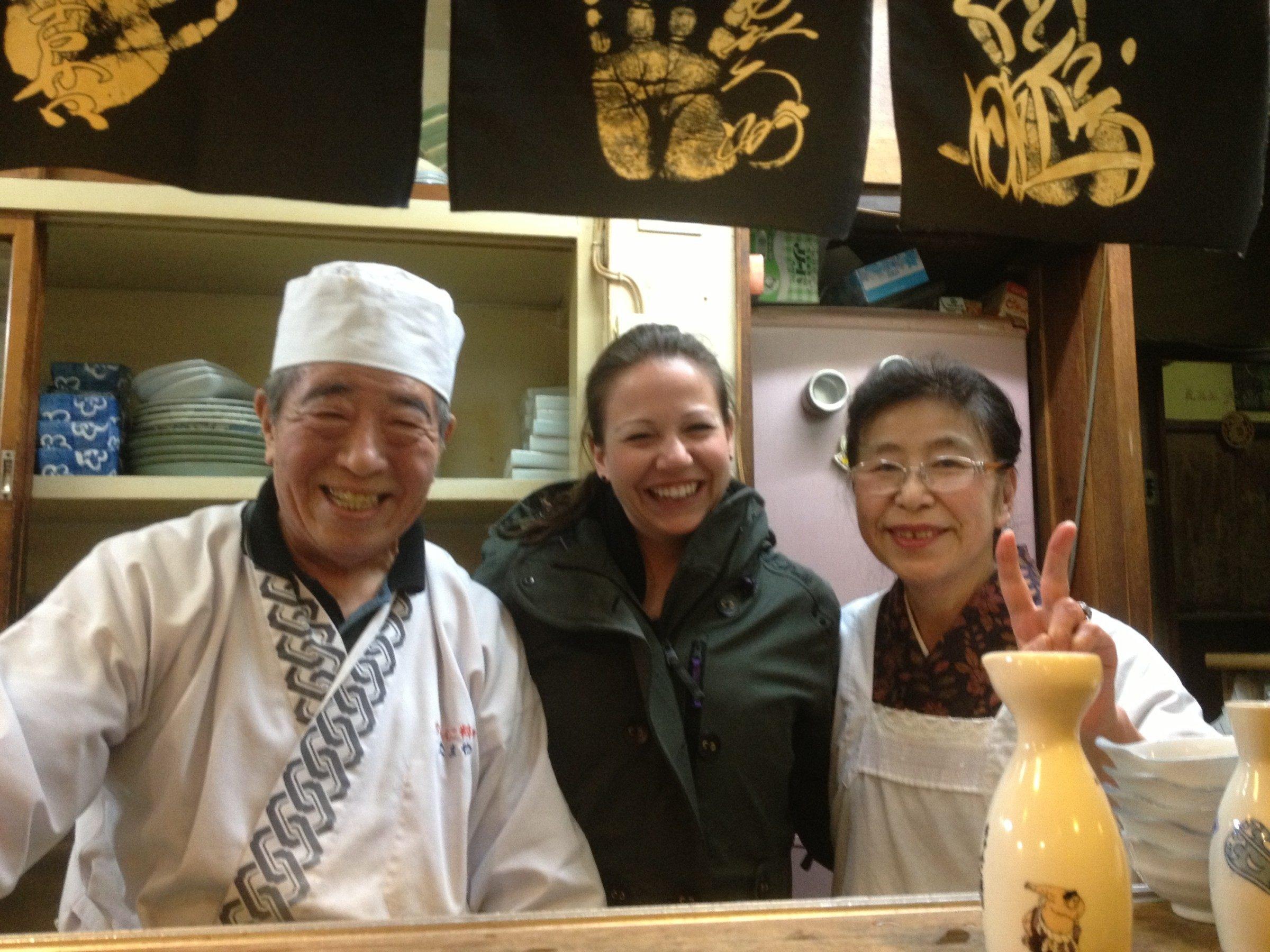 Warm welcome and sake