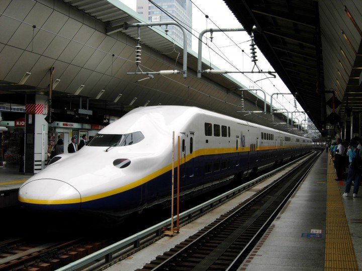 Shinkansen at the Station