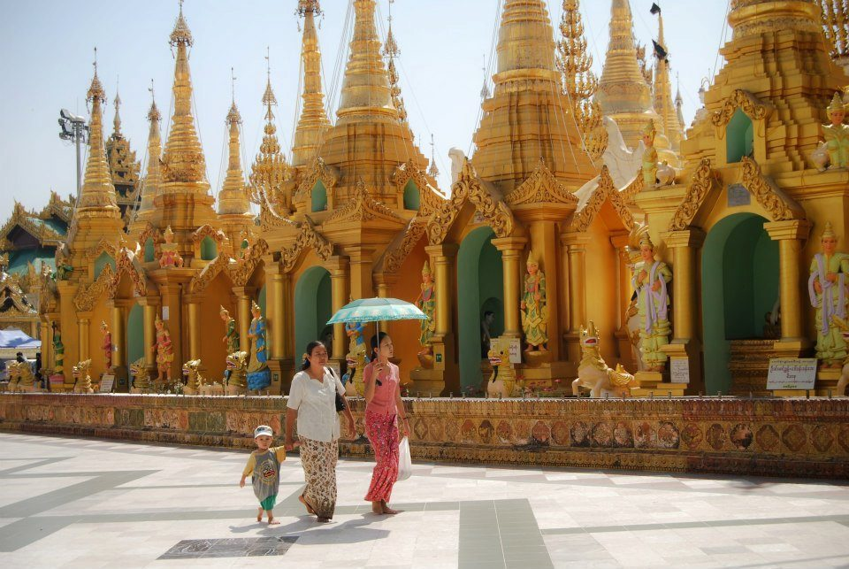 The Shwedagon Pagoda is Burma's most important place of worship.