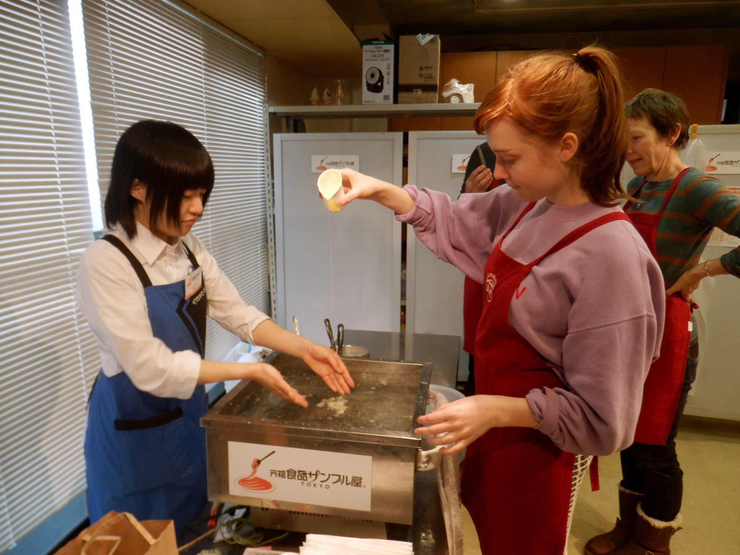 Making plastic food on Kappabashi-dori