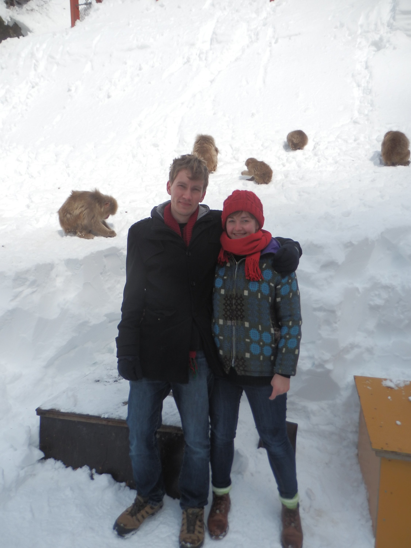Me and Adam at Jigokudani snow monkey park
