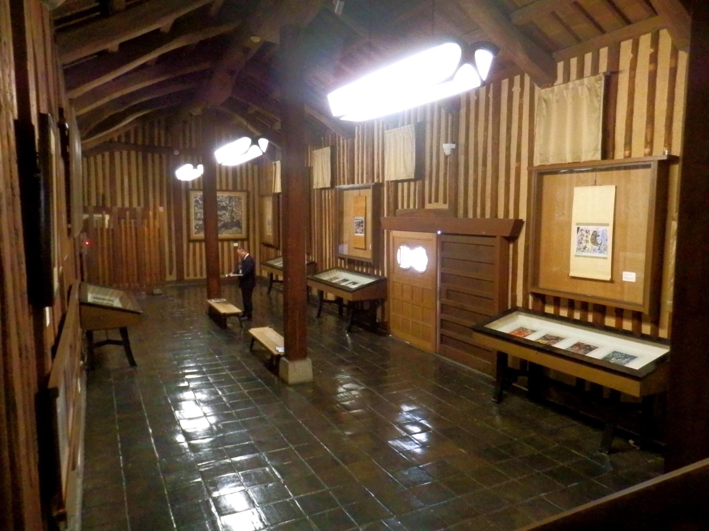 Inside one of the galleries at the Ohara Museum