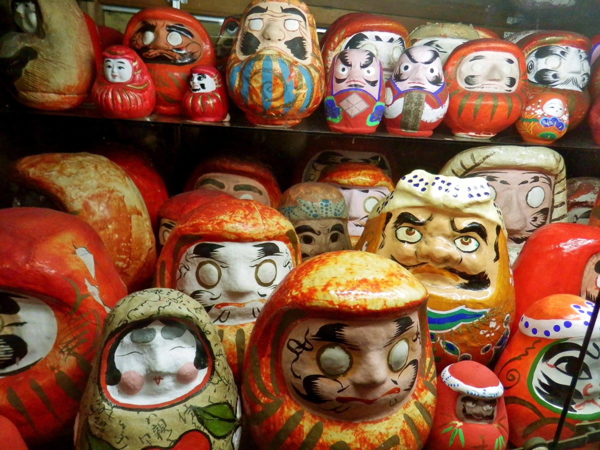 Daruma dolls in the Rural Toy Museum