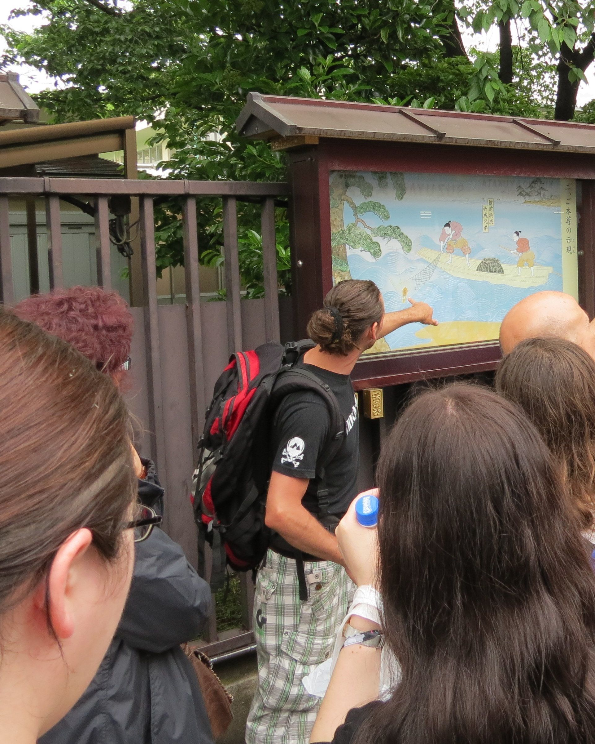 Our Tour Leader sharing some brief Japanese history with the group