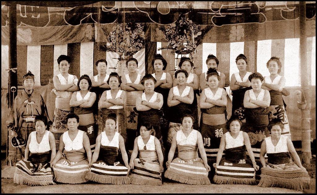 Female sumo wrestlers