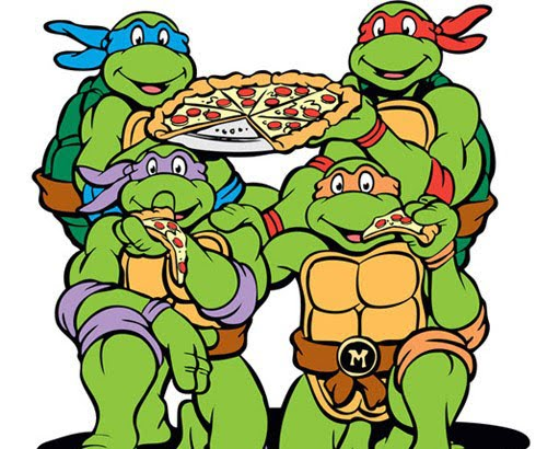 There is no evidence that ninjas favoured pizza over any other foodstuff