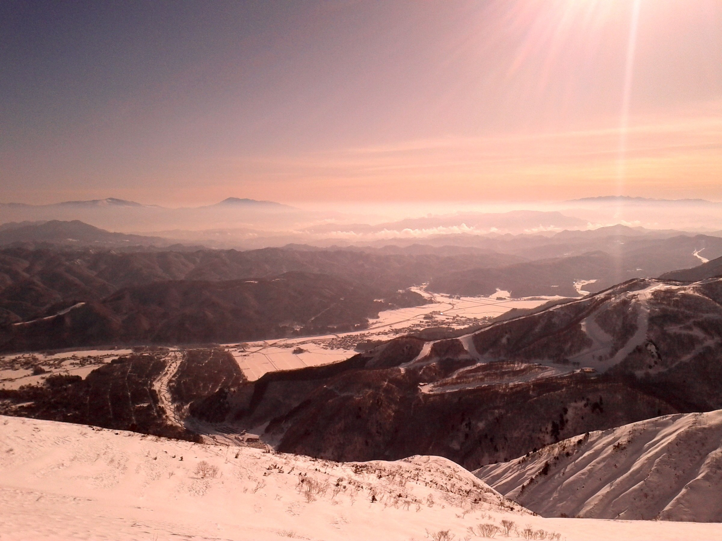 View over Hakuba, one of the locations for the 1998 Winter Olympics