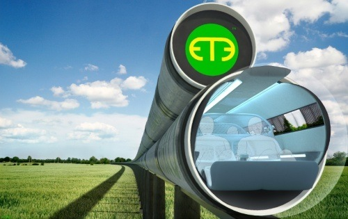 """Proposed """"vactrain"""" tube"""
