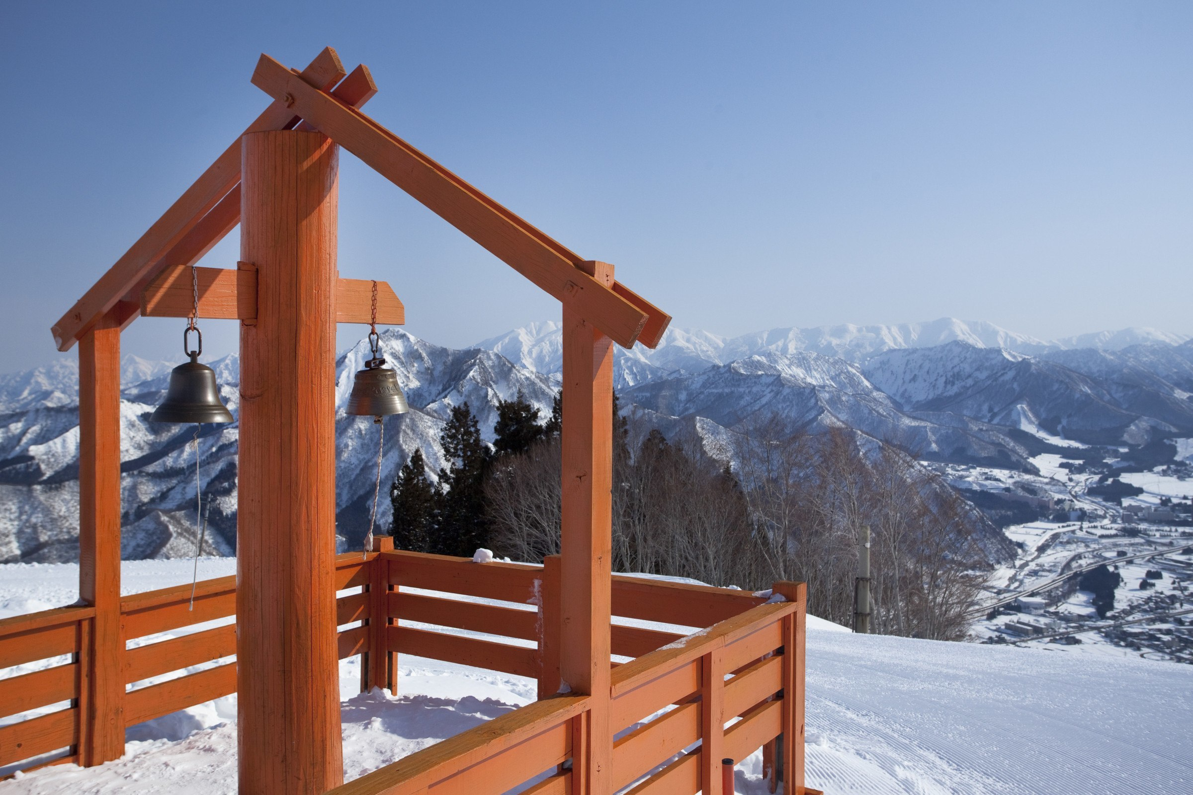View from summit of a moutain in Yuzawa