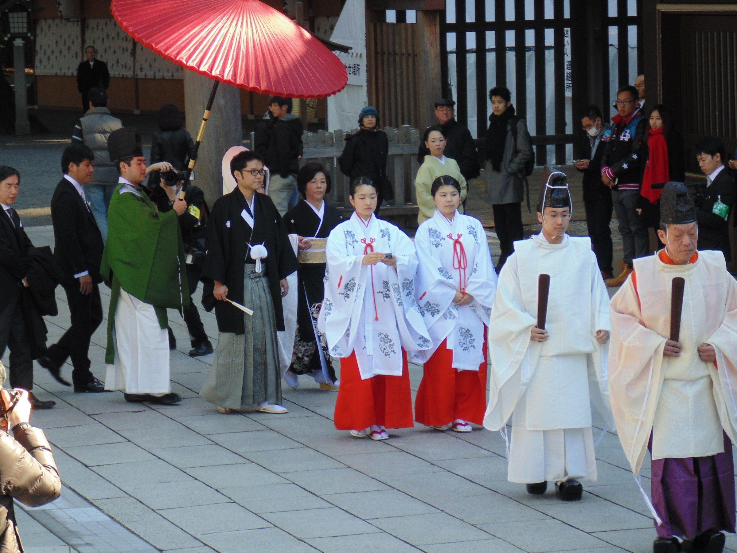 Shinto wedding ceremony at Tokyo's Meiji Shrine