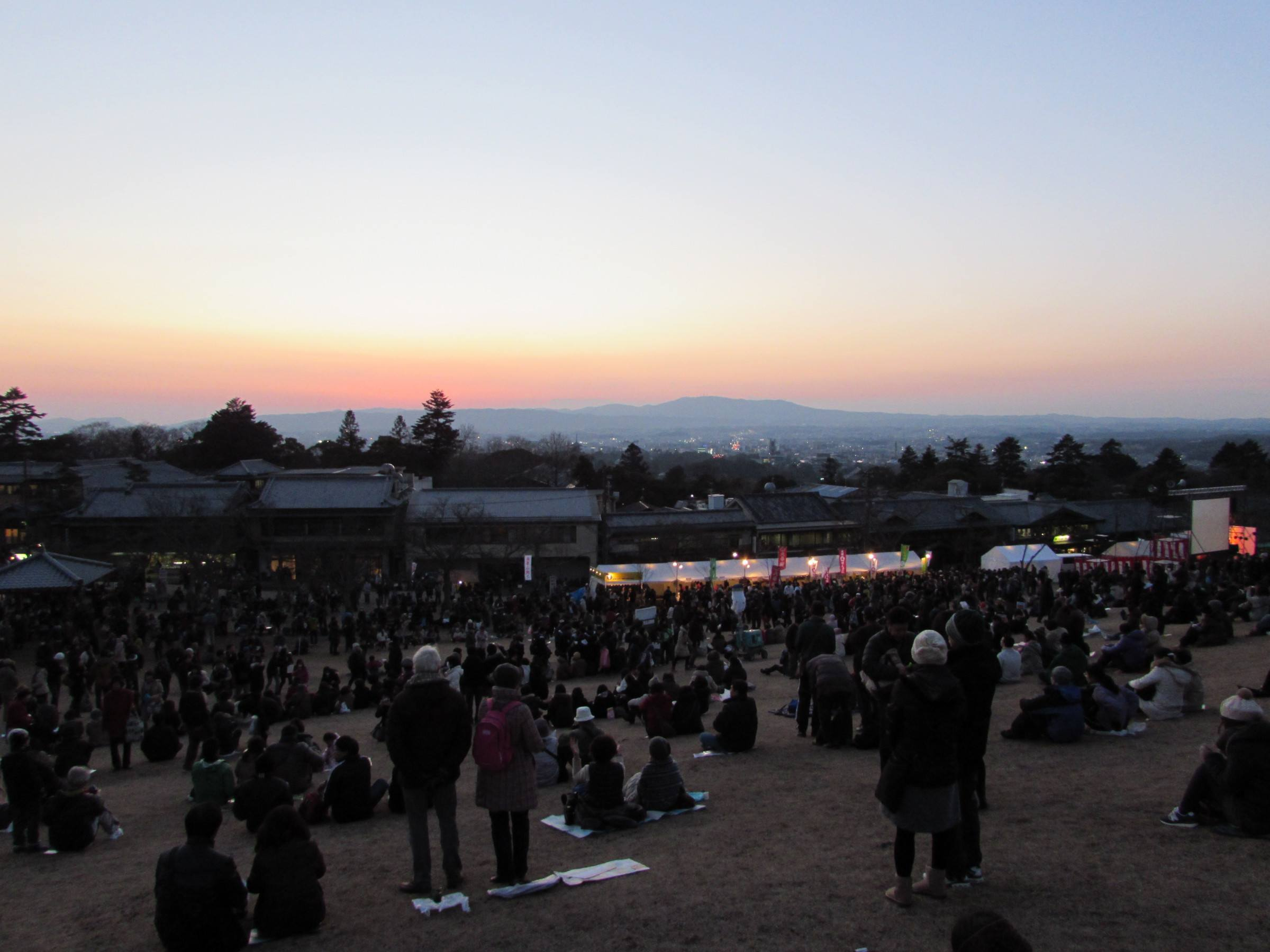 While we were waiting for the sun to set, there were fantastic views across Nara to be had from the side of the mountain!