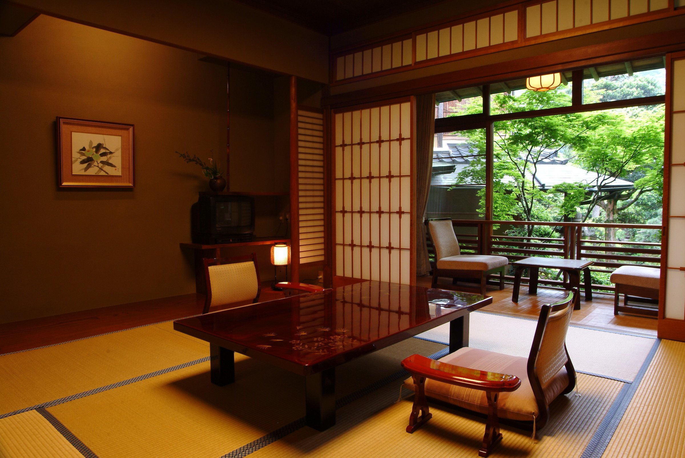 Traditional room at the Nishimuraya Ryokan