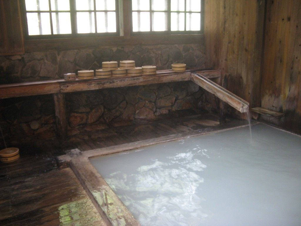 Indoor bath at Nyuto Onsen