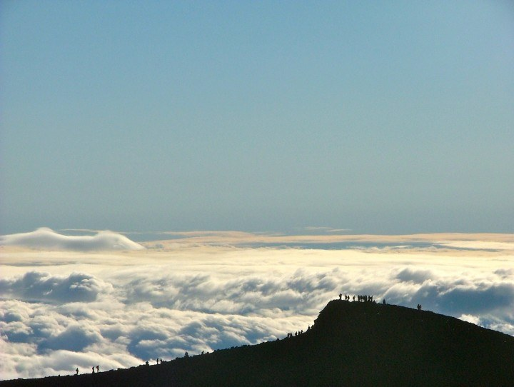 Above the clouds on top of Mount Fuji Inside Japan Tours