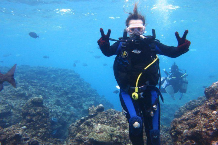 Enjoying some scuba diving off Okinawa