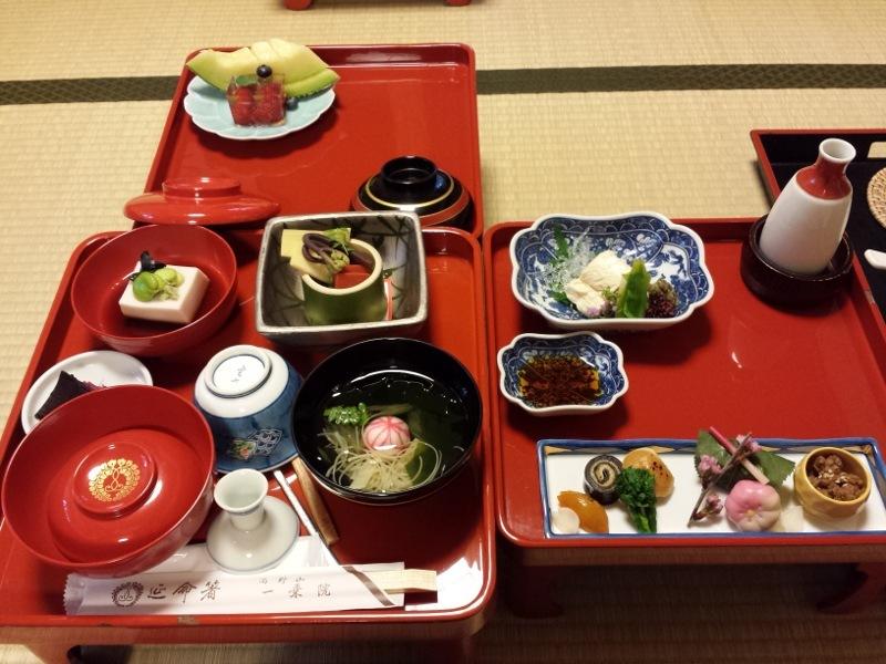 Shojin ryori served at a temple lodging in Mount Koya.