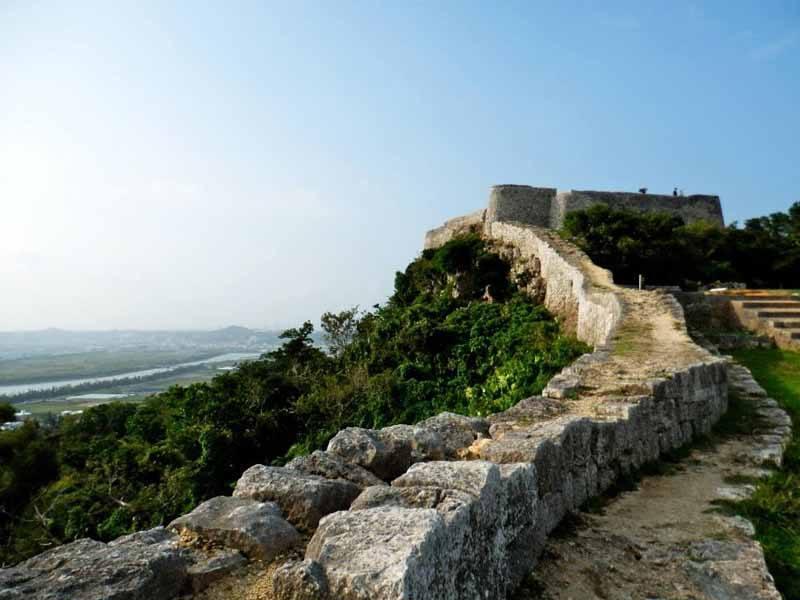 The remains of Katsuren Castle, on Okinawa Main Island