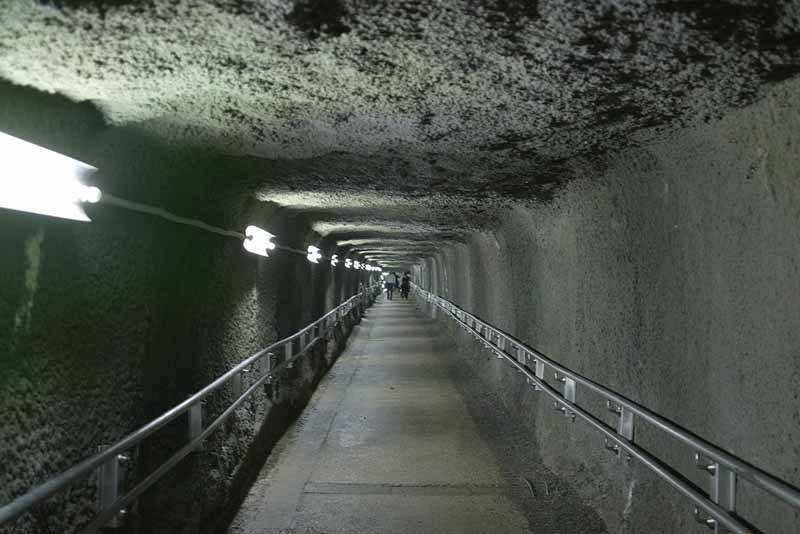 Inside a section of the mine