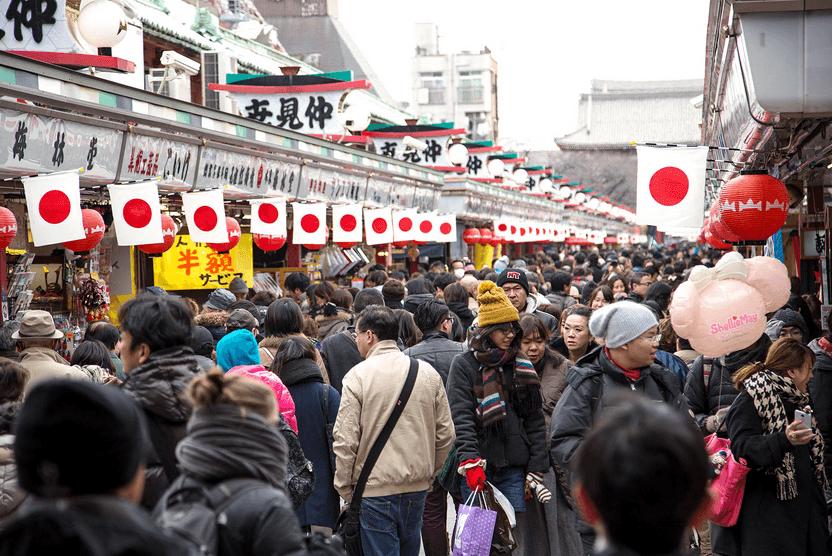 Crowds in Tokyo