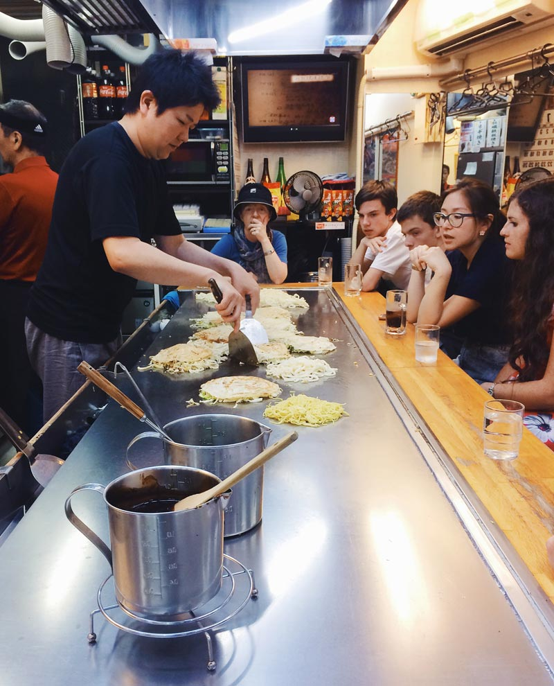 Try okonomiyaki in Hiroshima