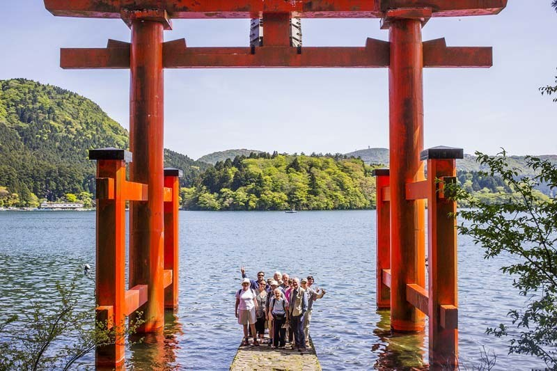 One of our groups in Hakone, enjoying the excellent leadership of tour leader David Lovejoy