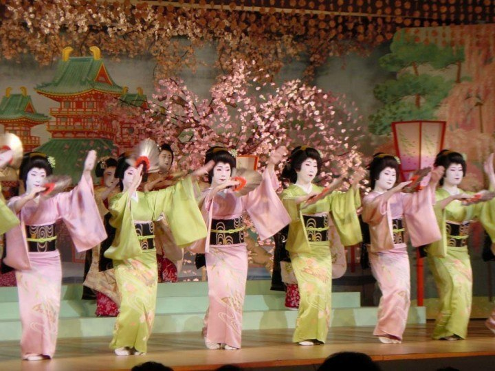 The spring dances in Kyoto