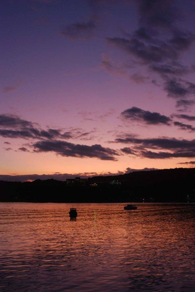 Matsushima at sunset