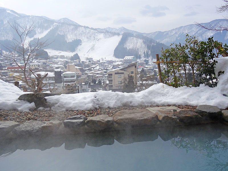 Hot spring onsen in Japan