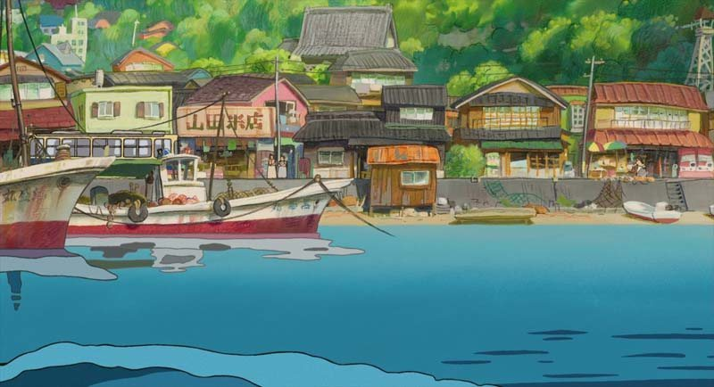 The town in Ponyo