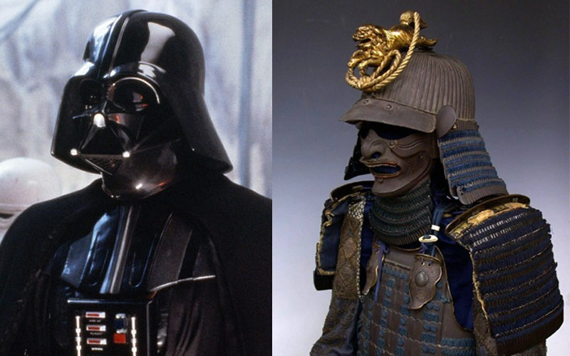 And Darth Vader's helmet bears more than a passing resemblance to samurai armour.
