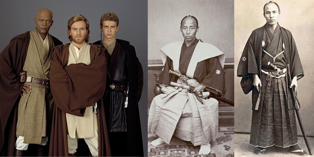 Jedi Garb Is Strikingly Similar To Traditional Samurai Robes