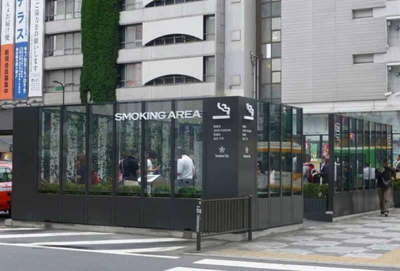 Smoking area (Photo: Abroad Japan)