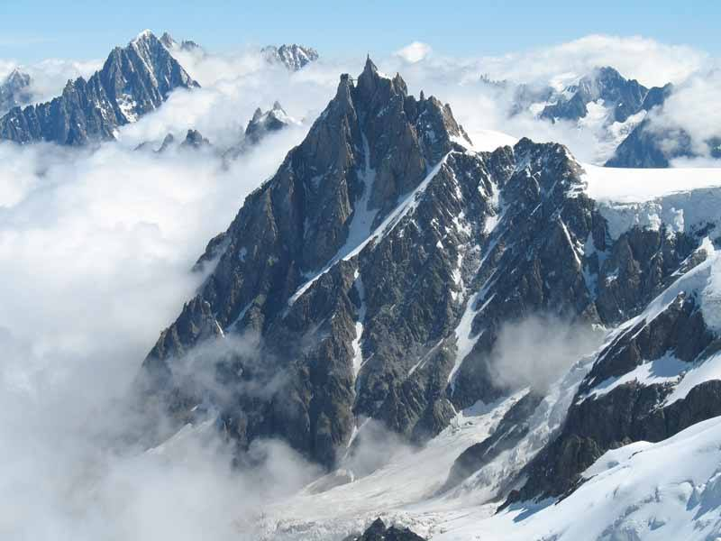 Aiguille du Midi in the European Alps (Photo: