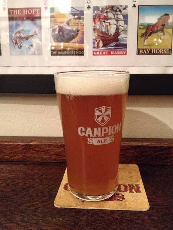 A pint of Campion bitters