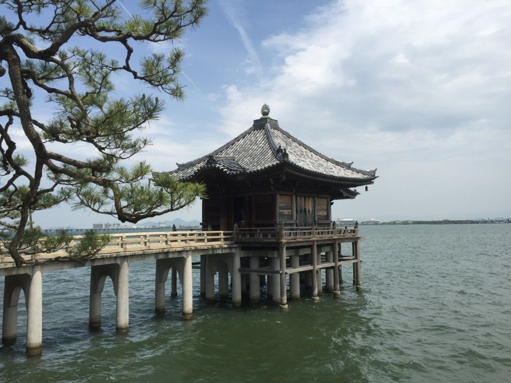 The Umikido floating temple hall at Mangetsu-ji