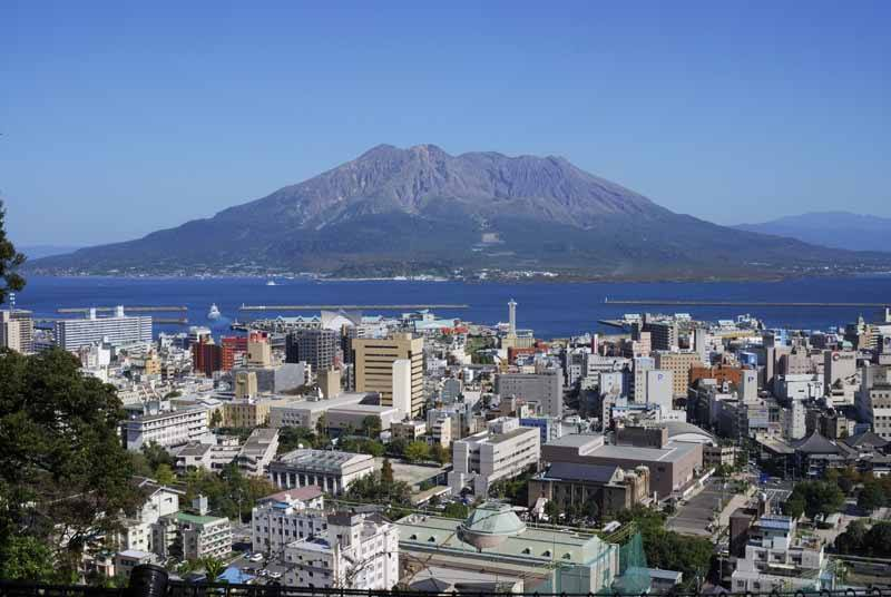 Sakurajima as seen from Kagoshima city