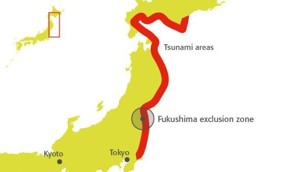 The Triple Disaster Looking Back On The Tohoku Earthquake - Japan exclusion zone map
