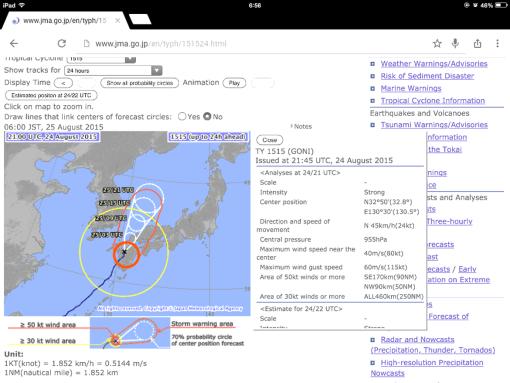 Typhoon forecast!