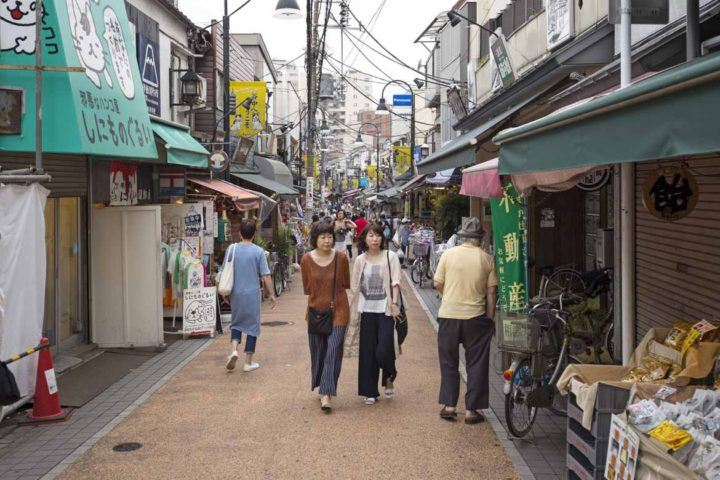 Yanaka's shopping street