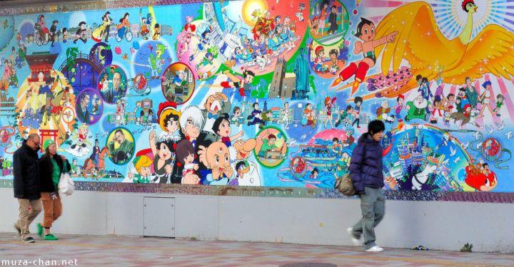 Astro Boy mural at Takadanobaba Station (photo: muza-chan.net)