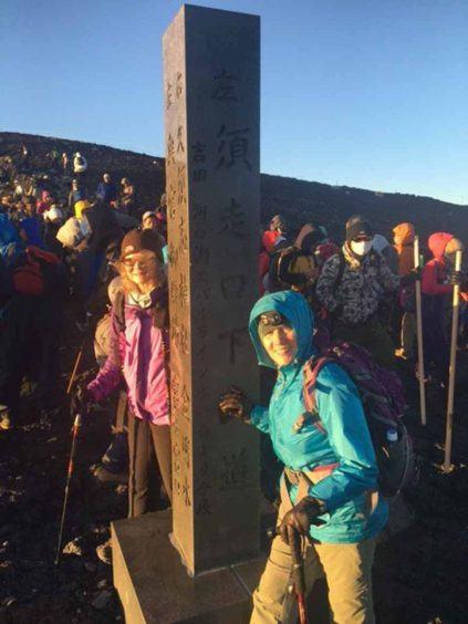 Summiting Fuji