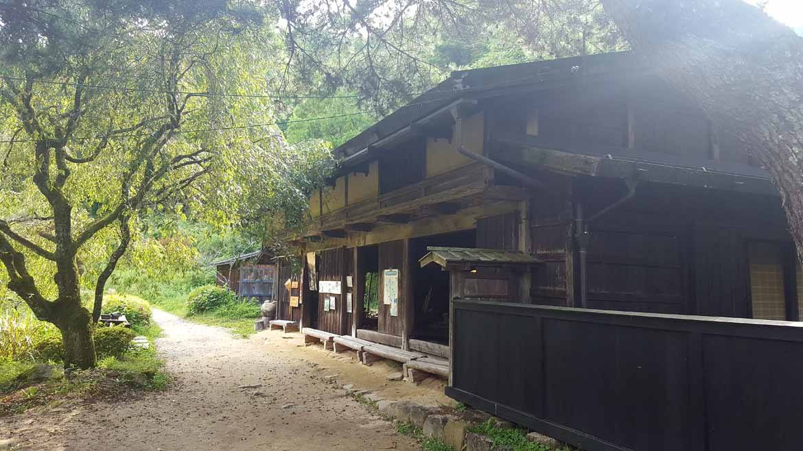 An old feudal checkpoint now functions as a teahouse for walkers