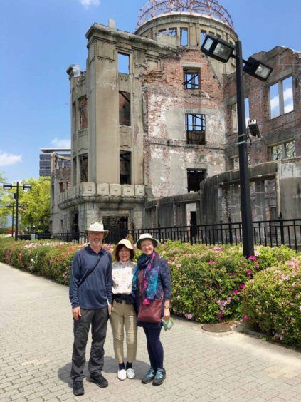 At the atomic bomb dome in Hiroshima