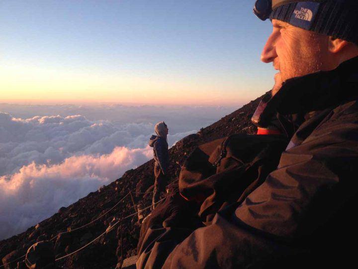 Ben at the summit of Mount Fuji