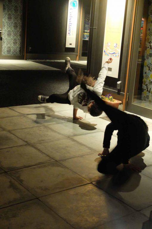 Bi-Hive members breakdancing