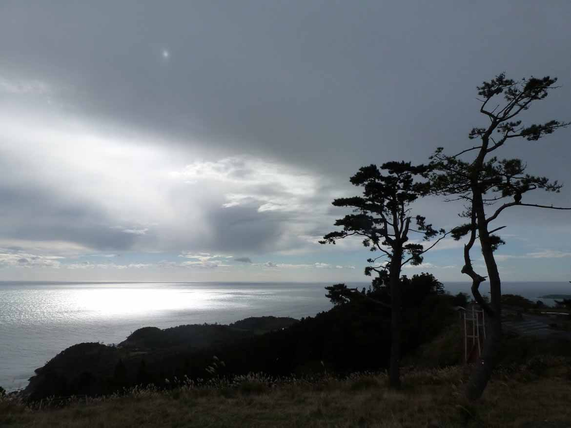 View out to sea from the Onagawa mounatins